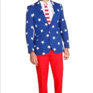 Stars and Stripes suit  NWOT